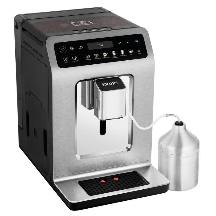 Fotografie Espressor automat KRUPS Evidence Plus EA894T10, 2.3 L, 1450 W, 15 bari, Argintiu/ Negru