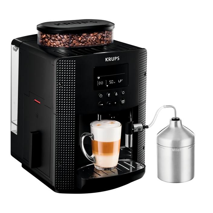 KRUPS EA816031 Pisa fekete automata kávéfőző + XS6000 Autocappuccino