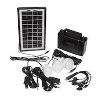Комплект соларна осветителна система GDLITE GD-8007,Черен