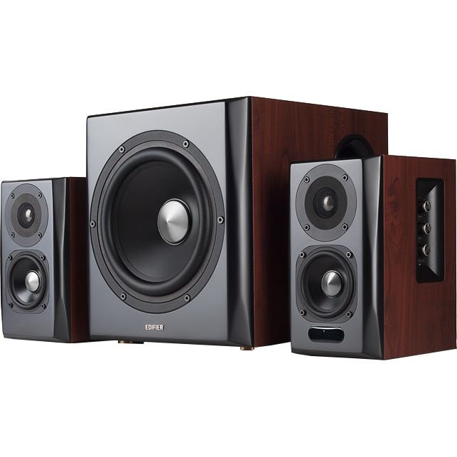 Fotografie Boxe Edifier 2.1 150W S350DB, bluetooth, telecomanda, brown
