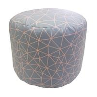 Tабуретка Dekoratex Geometrics, Полиестер, С щампа, Мотив Gray and Rose, 35 x 45 см