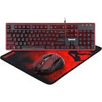 Kit gaming Redragon S107 tastatura, mouse si mousepad