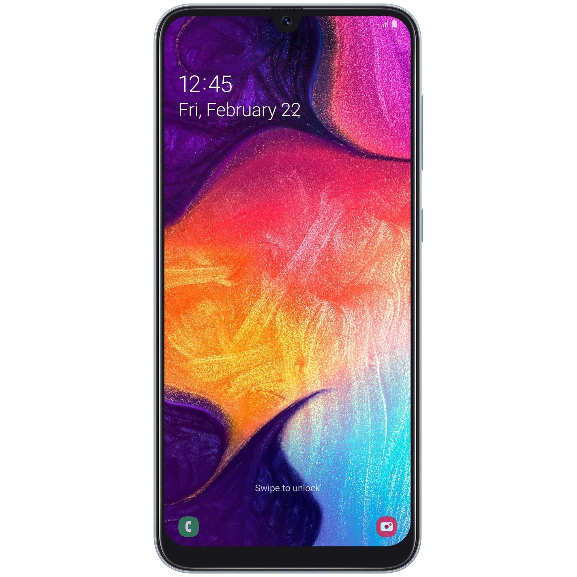 Fotografie Telefon mobil Samsung Galaxy A50, Dual SIM, 128GB, 4G, White