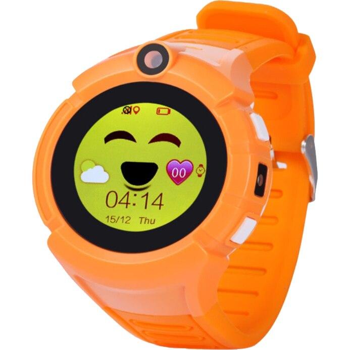 Fotografie Ceas smartwatch copii Wonlex GW600, GPS, Functie telefon, SIM prepay cadou, Portocaliu