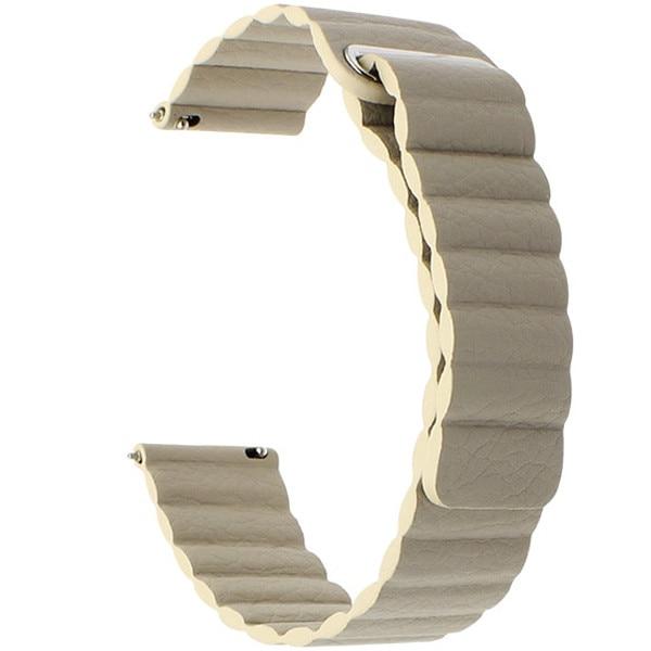 Fotografie Curea iUni pentru Samsung Gear S3 / Galaxy Watch 46, 22 mm, Kaki Leather Loop