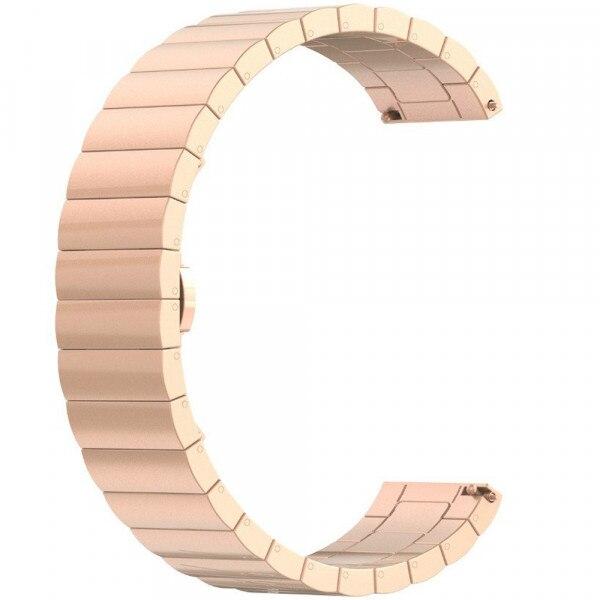 Fotografie Curea iUni pentru Samsung Gear S3 / Galaxy Watch 46, 22 mm, Otel Inoxidabil, Rose Gold Link Bracelet