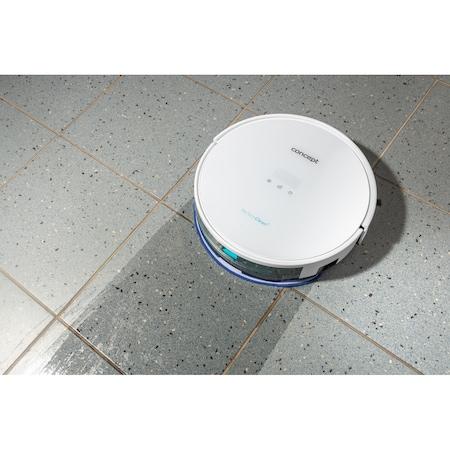 Robot de aspirare Concept VR2000, 14.4 V, Li-Ion, Navigatie giroscopica, App, Recipient Praf 0.6 L, Recipient Apa 0.33 L, Alb