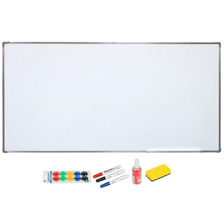 A+ Mágneses bemutató tábla, 100x200cm, kiegészítők, filctollak, szivacs, spray, mágnesek