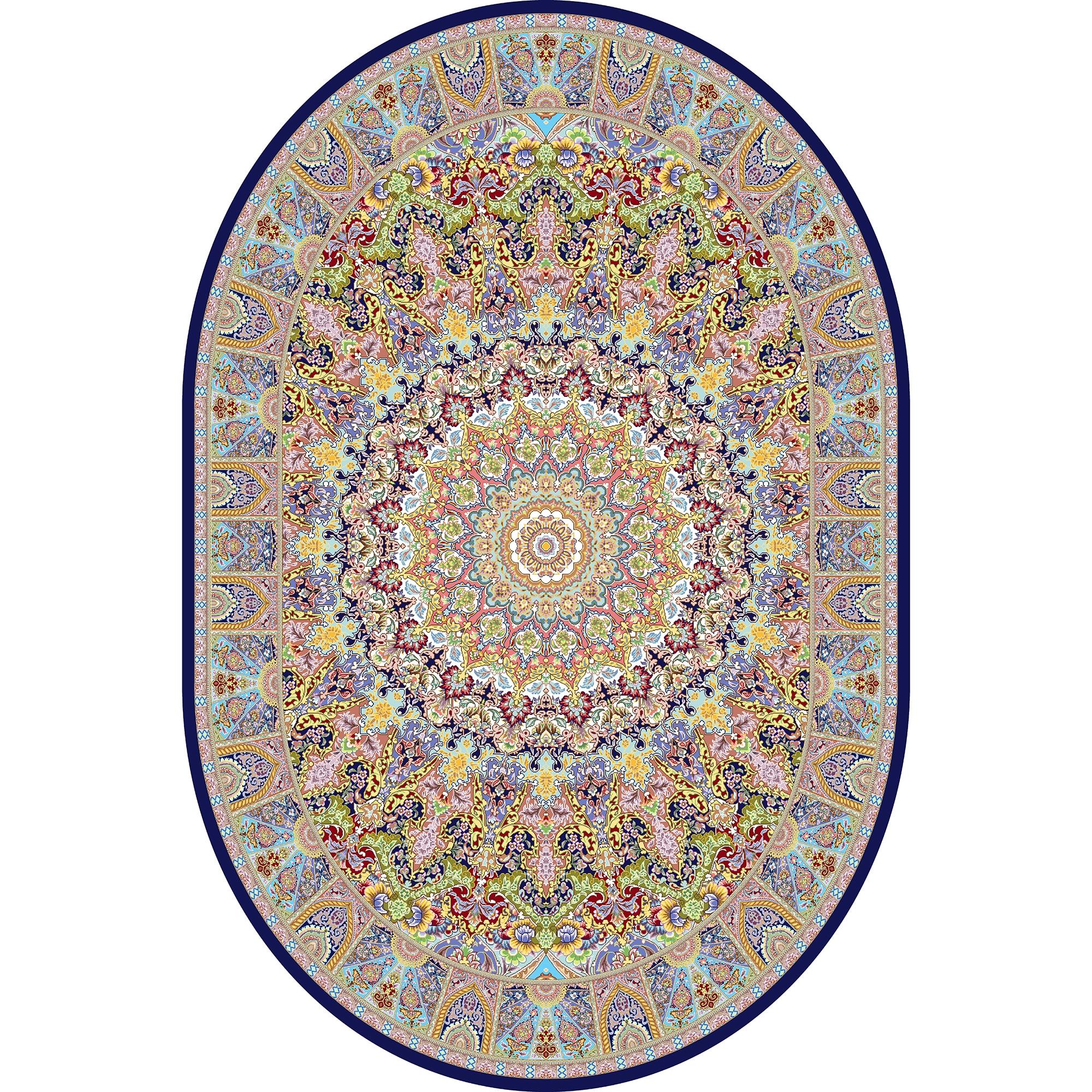 Fotografie Covor Eljado, oval, 150x100cm, fibre sintetice, trafic intens, Multicolor, 100092