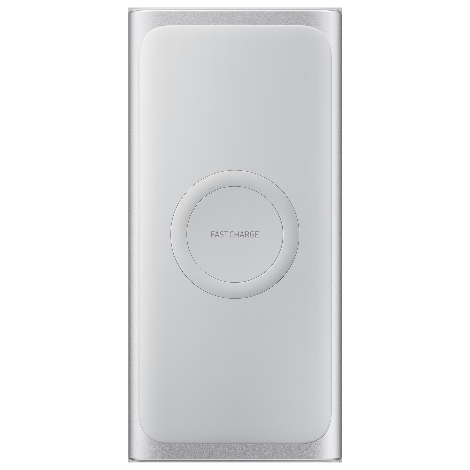 Fotografie Acumulator extern Samsung Wireless, 10000 mAh, Silver