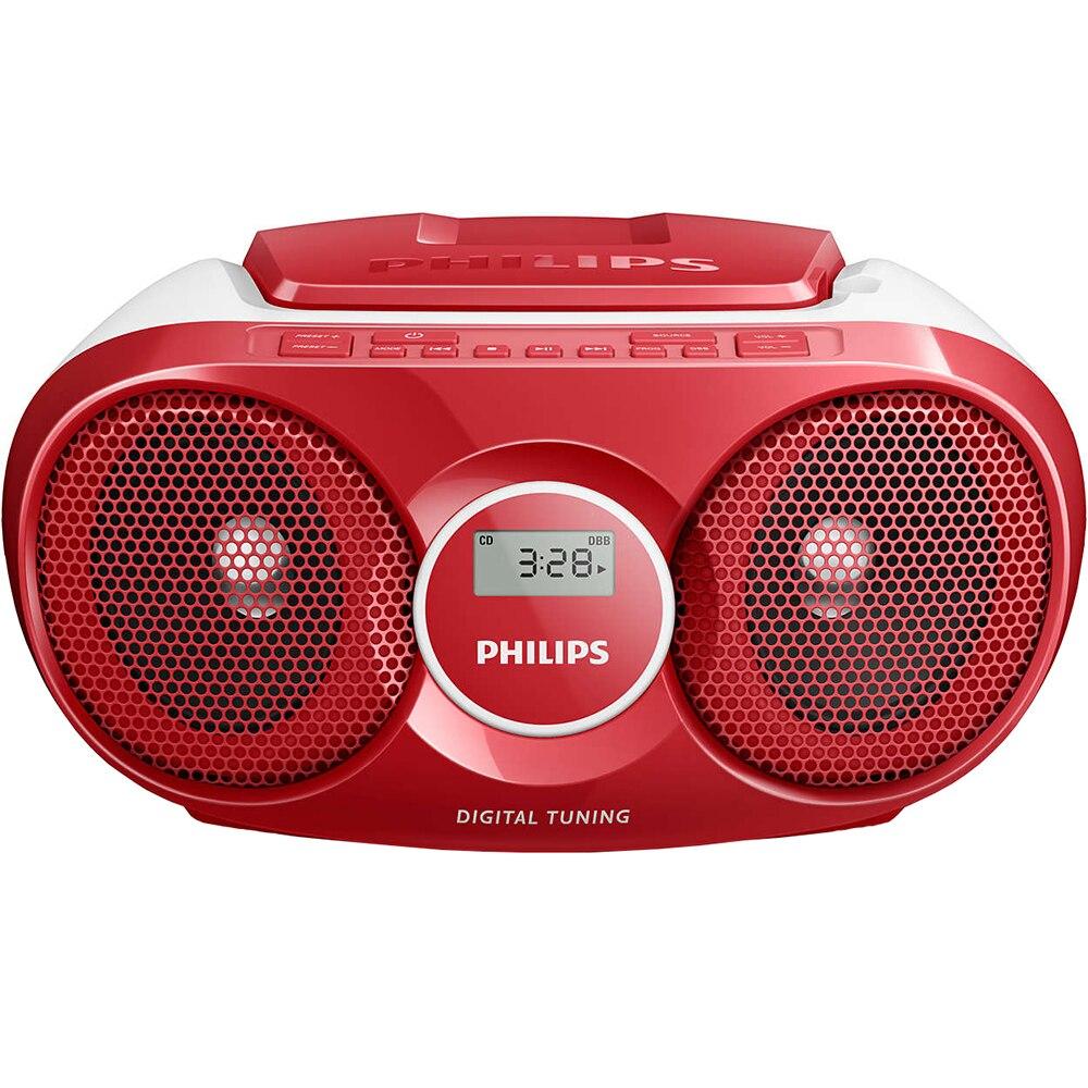 Fotografie Microsistem audio Philips, AZ215R/12, CD-R, CD-RW, FM stereo, Rosu
