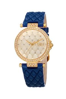BURGI, Аналогов часовник с кристали, Тъмносин