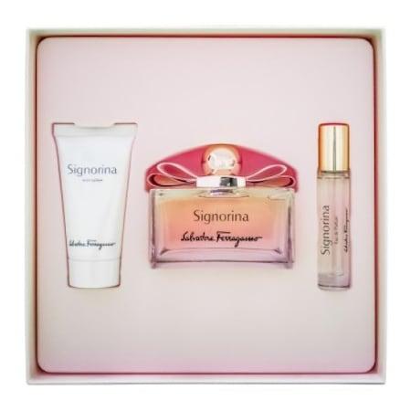 Salvatore Ferragamo Signorina Set (Eau de Parfum 100, Body Lotion 50, Eau de Parfum 10)