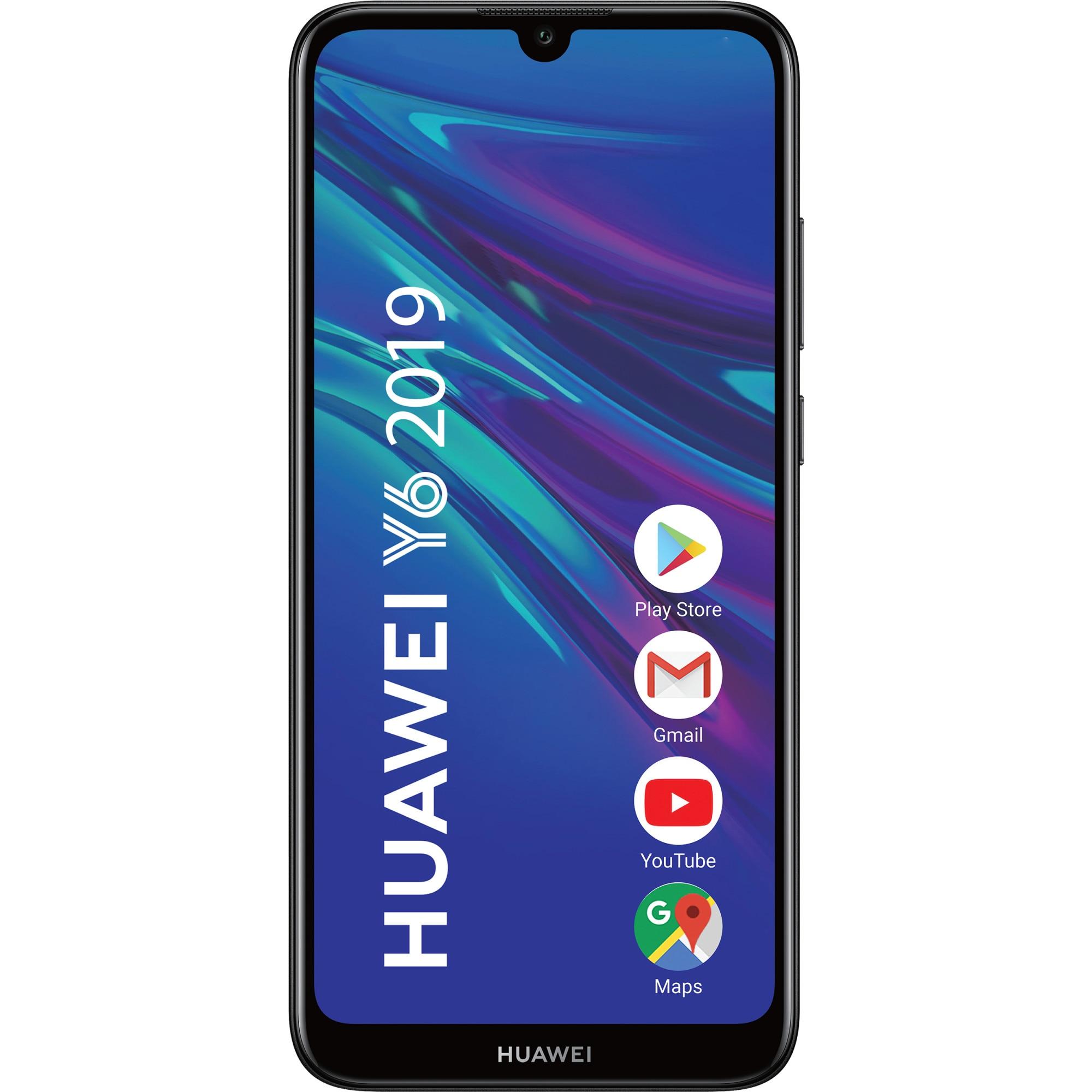 Fotografie Telefon mobil Huawei Y6 2019, Dual SIM, 32GB, 4G, Midnight Black