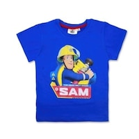 Fireman Sam, Tűzoltó Sam mintás fiú rövid ujjú póló 116 cm
