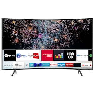 Televizor LED curbat Smart Samsung, 138 cm, 55RU7302, 4K Ultra HD, Clasa A