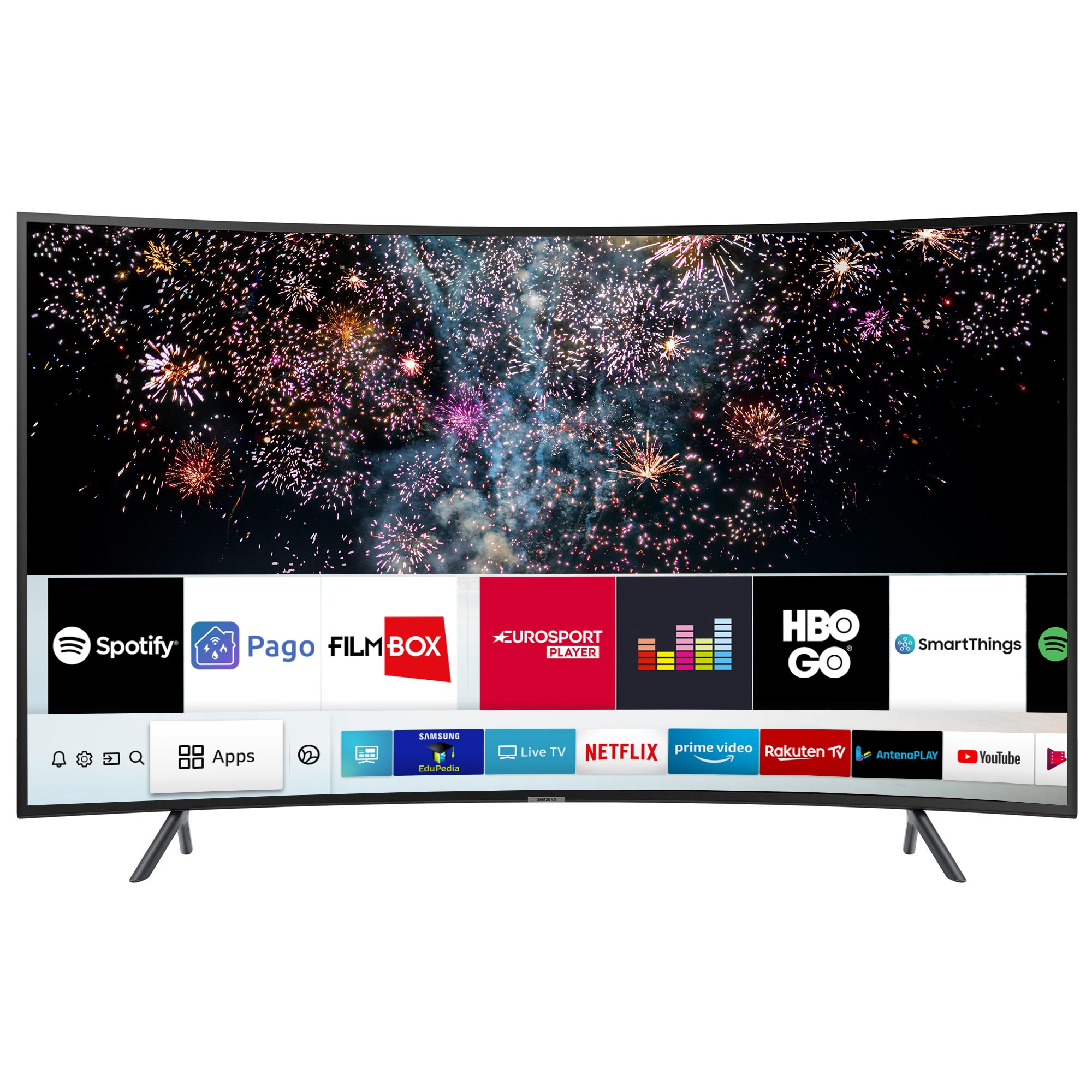 Fotografie Televizor LED curbat Smart Samsung, 123 cm, 49RU7302, 4K Ultra HD, Clasa A