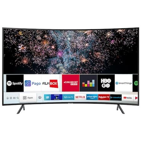 Televizor LED curbat Smart Samsung, 123 cm, 49RU7302, 4K Ultra HD, Clasa A