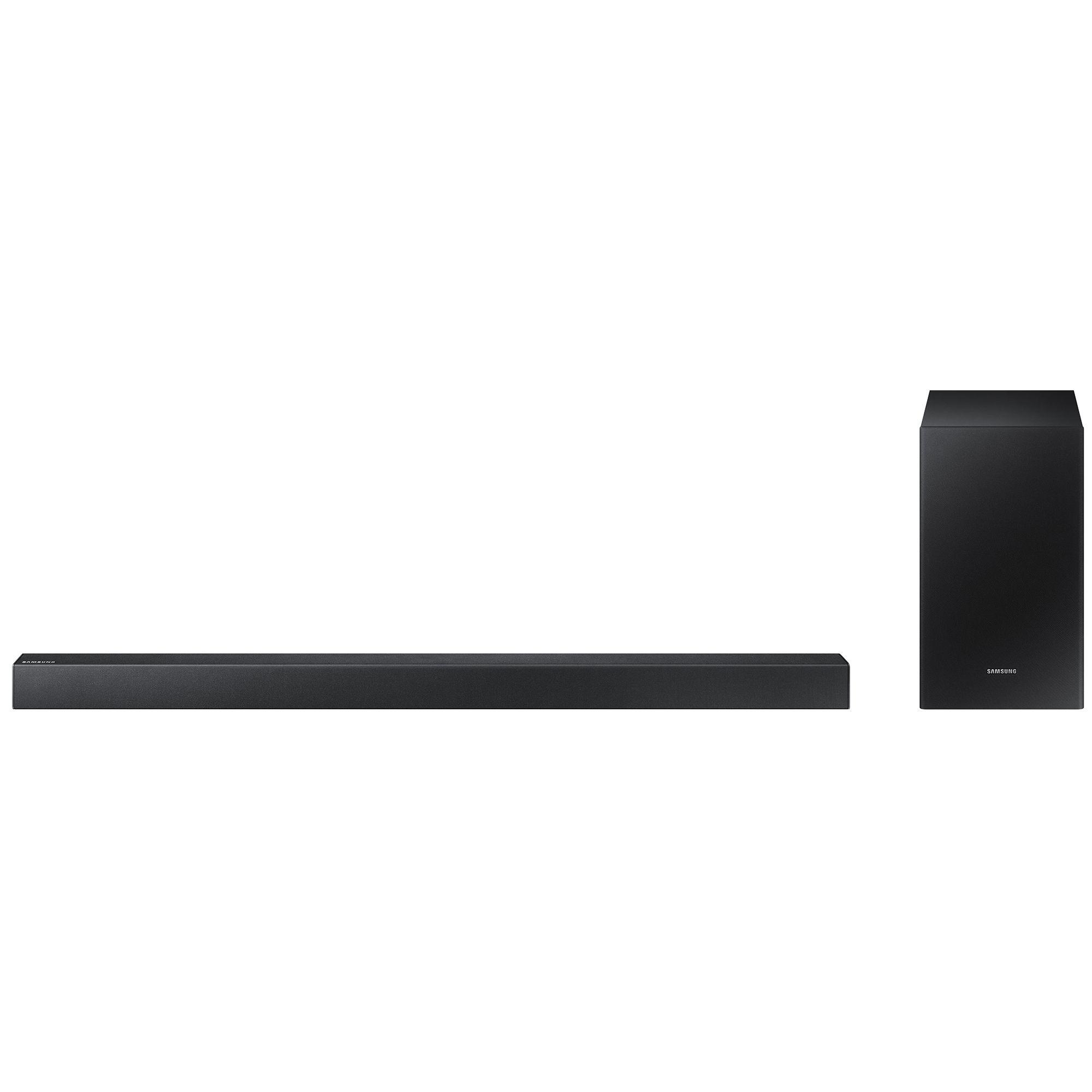Fotografie Soundbar Samsung HW-R450/EN, 2.1 Canale, 200W, Wireless Subwoofer, Game mode, Negru