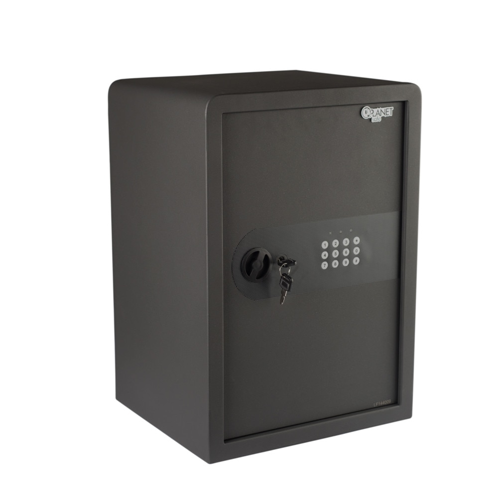 Fotografie Seif cu inchidere electronica + cheie Planet Safe 50AT, 500x350x300 mm, negru