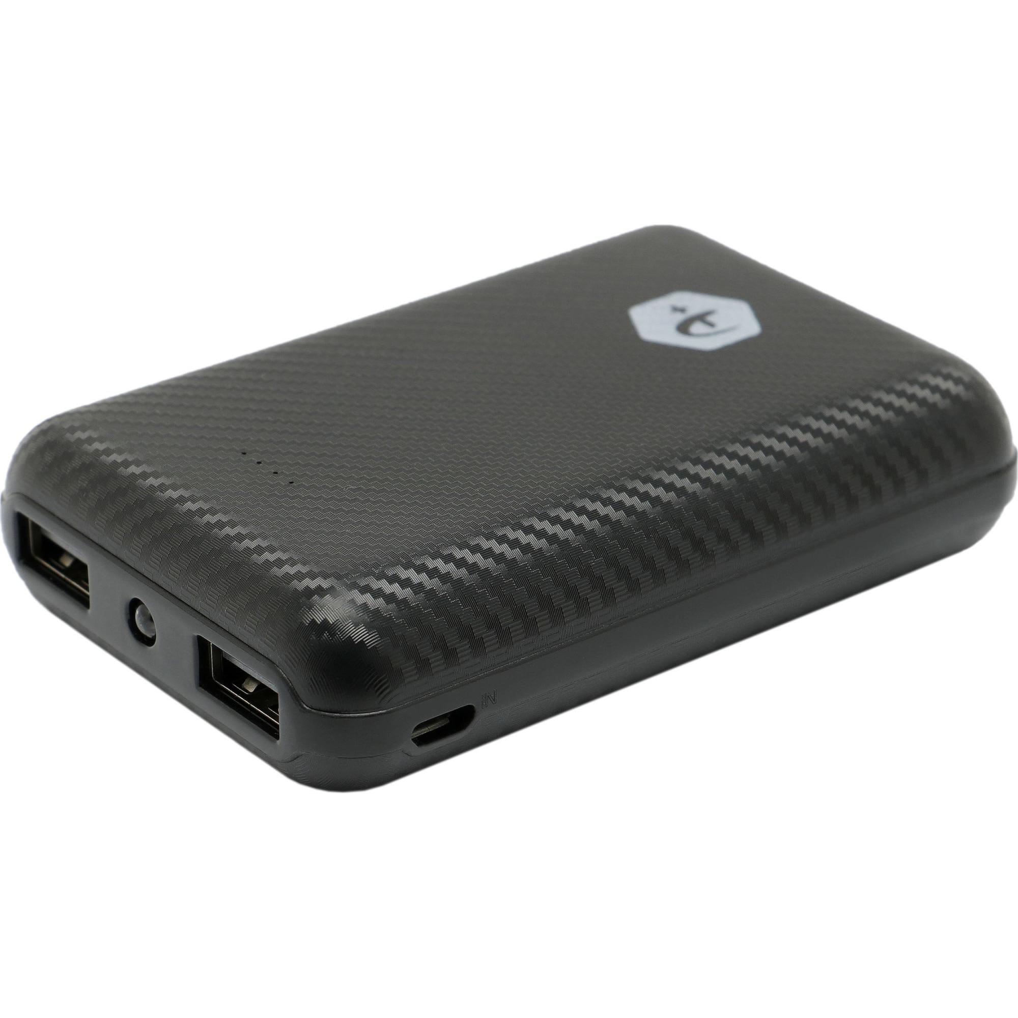 Fotografie Acumulator extern A+, 10.000 mAh, 2 porturi USB, conectivitate micro USB