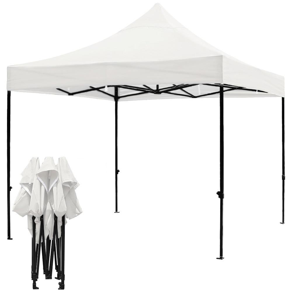 Cort Pavilion Pliabil Culinaro 300x300cm Otel Cu Panza Impermeabila Alba Emag Ro