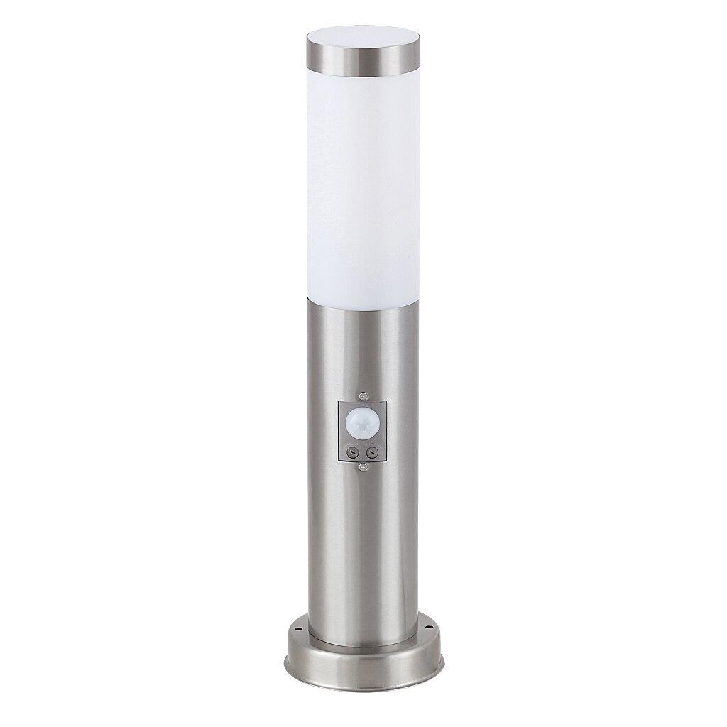 Fotografie Stalp iluminat exterior Rabalux Inox Torch, cu senzor miscare, E27, 25W, IP44, otel inoxidabil, 45 cm