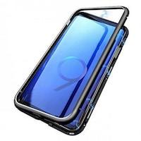 Твърд калъф гръб кейс GSMX магнитен алуминиев 360 градуса - Samsung S9, Черен