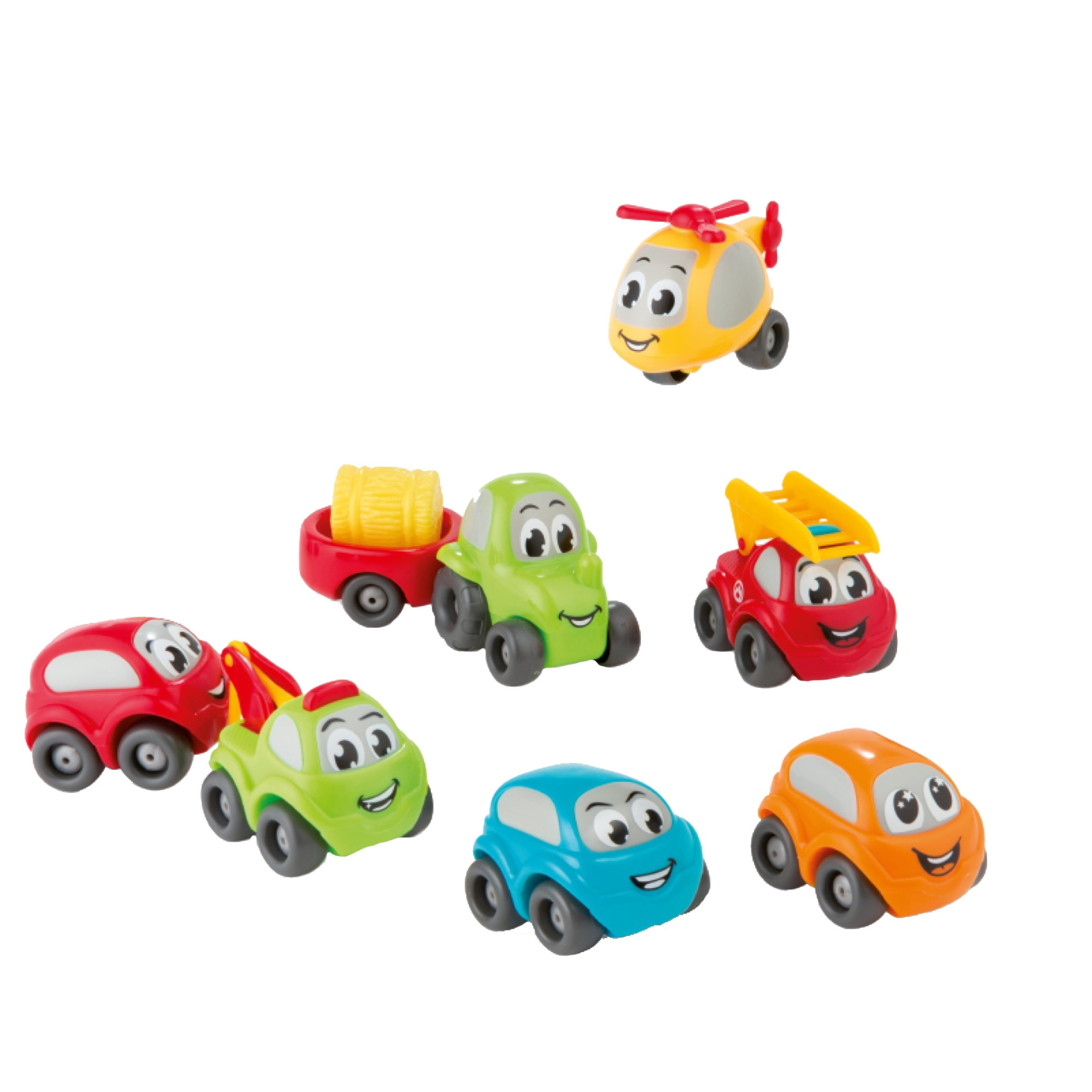 Fotografie Set Smoby Vroom Planet - Bubble car, 7 masinute