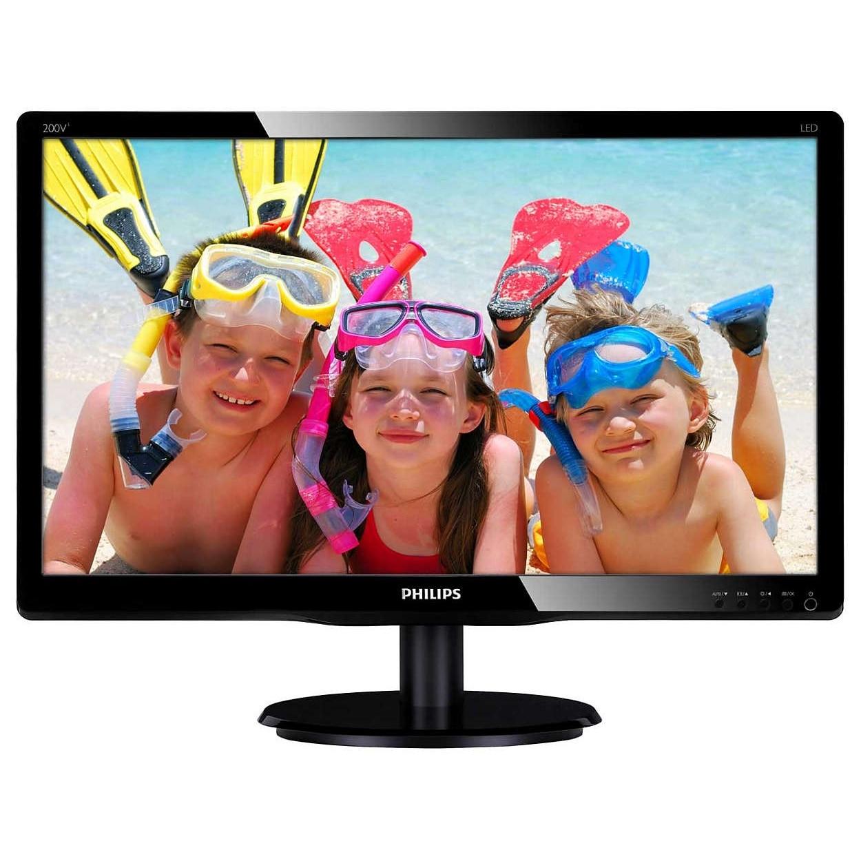 "Fotografie Monitor LED Philips 19.5"", Negru, 200V4QSBR/00"
