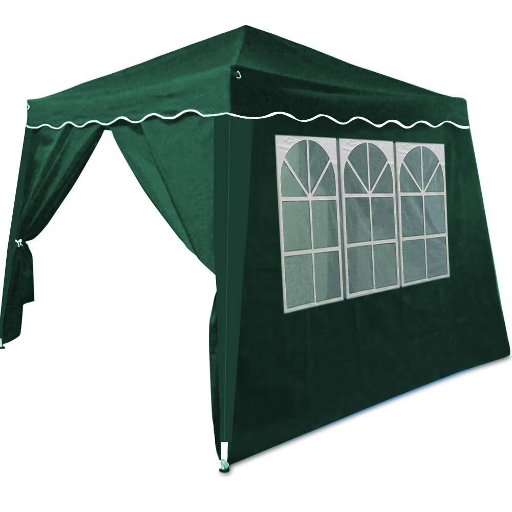 Pavilion De Gradina 3x3 M Pliabil 4 Pereti Laterali Cu Ferestre Verde Emag Ro