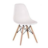 Sporol6 Lunaria fehér műanyag ülőfelületű szék