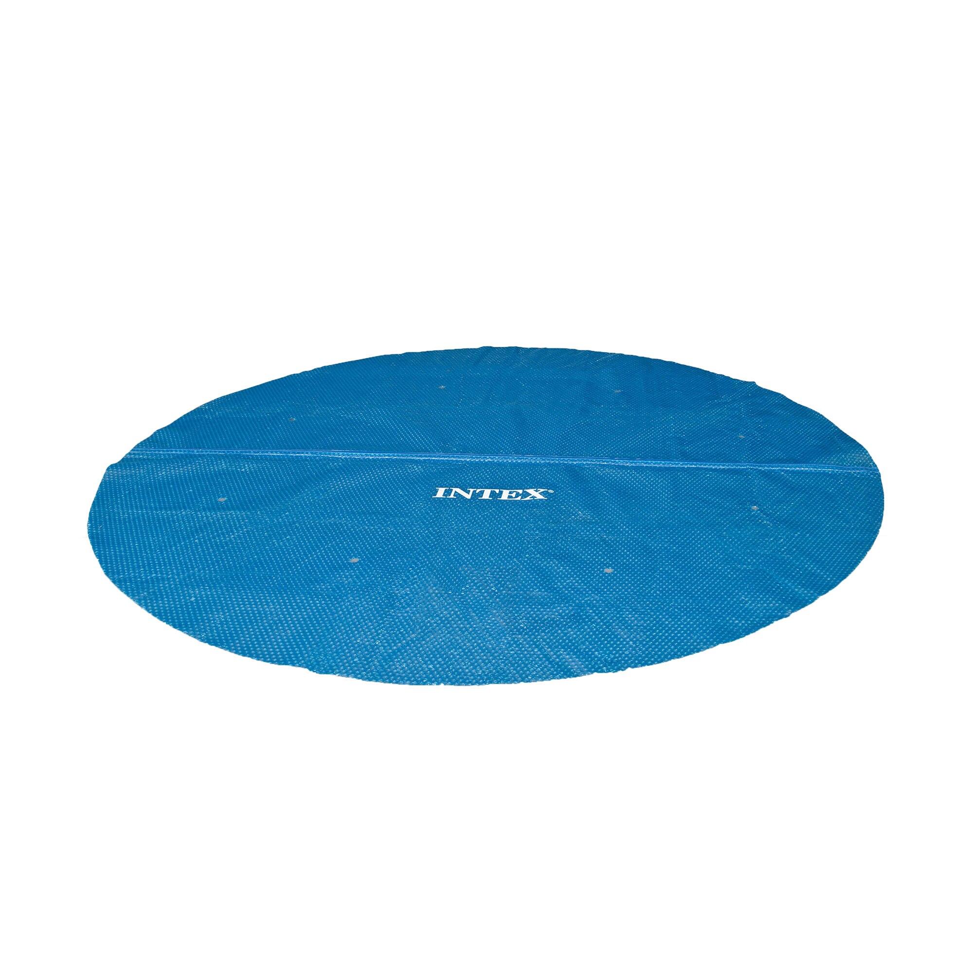 Fotografie Prelata pentru acoperit piscina Intex 29025, forma rotunda, 5.38 m diametru + sacosa transport