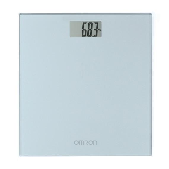 Fotografie Cantar super slim Omron HN-289-E, 150 kg, Sticla securizata, Display LCD, pentru adulti si bebelusi, Gri