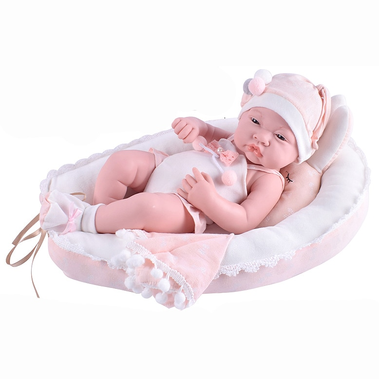 Fotografie Papusa Mappy - Baby so lovely, cu cosulet, roz, 40 cm