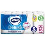 Zewa Deluxe 3 rétegű toalettpapír, Delicate Care, 16 tekercs