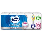 Zewa Deluxe 3 rétegű toalettpapír, Delicate Care, 20 tekercs