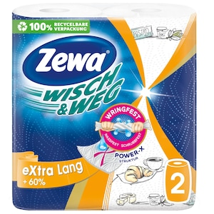 Role bucatarie Zewa Wisch&Weg Design Extra Lang, 2 straturi, 2 x 72