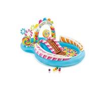 Candy Zone felfújható, csúszdás gyermek élménymedence, 295 x 191 x 130 cm