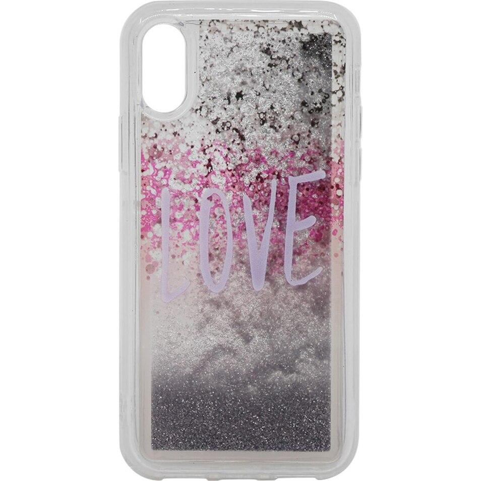 Fotografie Husa de protectie Lemontii Liquid Sand iPhone XS / X, Love