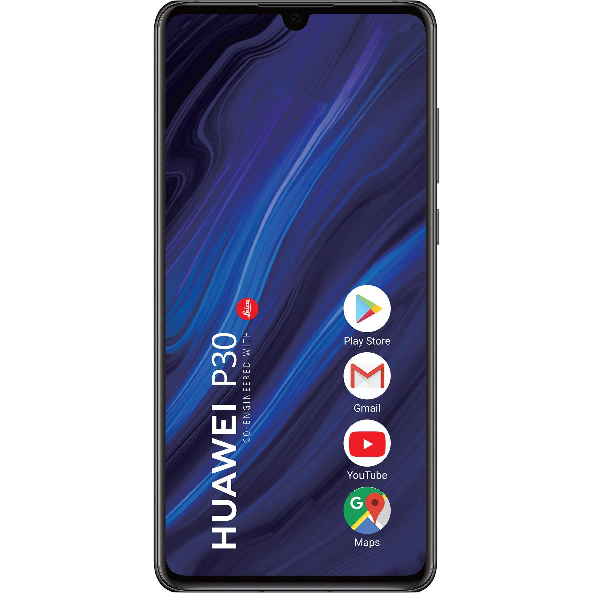 Fotografie Telefon mobil Huawei P30, Dual SIM, 128GB, 6GB RAM, 4G, Midnight Black