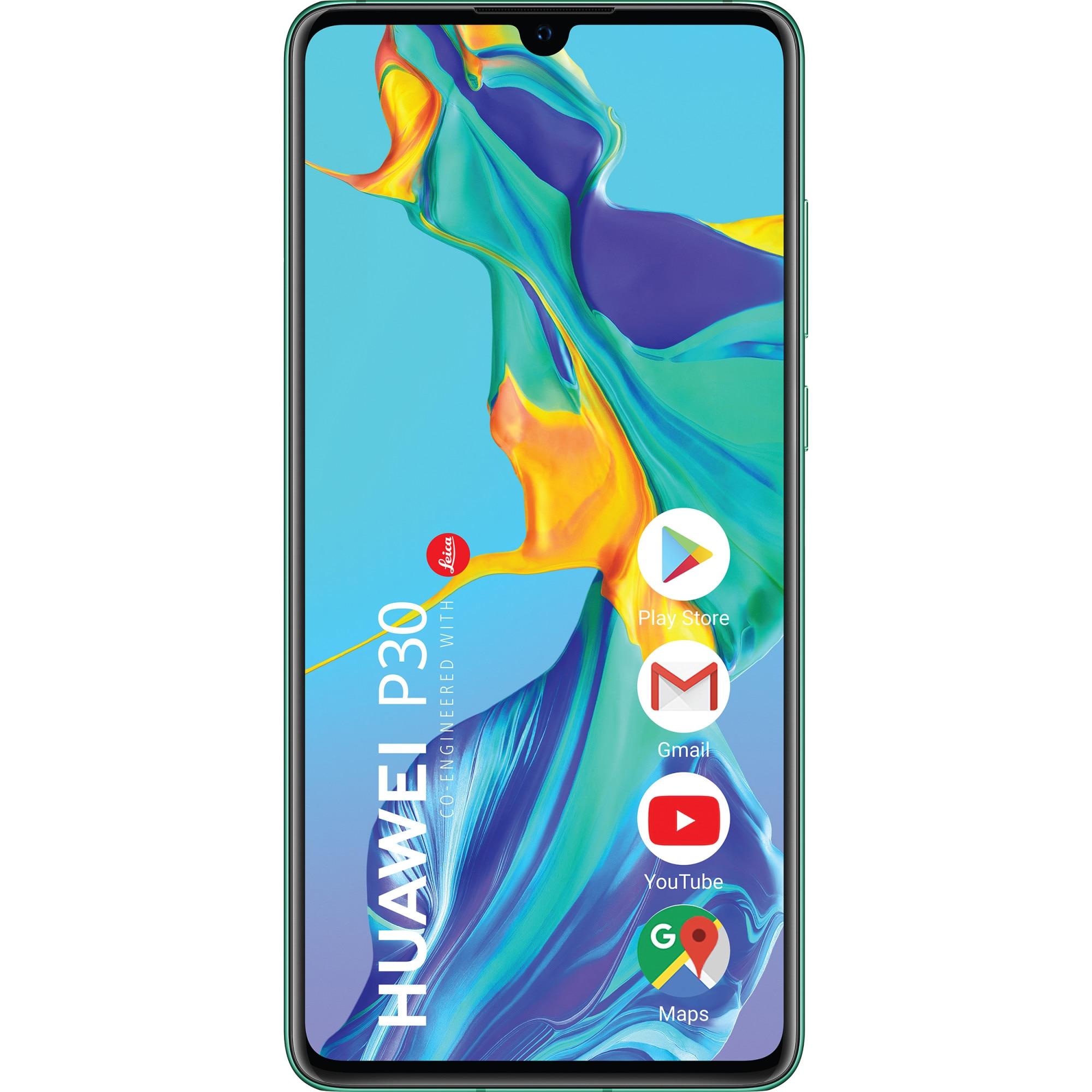 Fotografie Telefon mobil Huawei P30, Dual SIM, 128GB, 6GB RAM, 4G, Aurora Blue