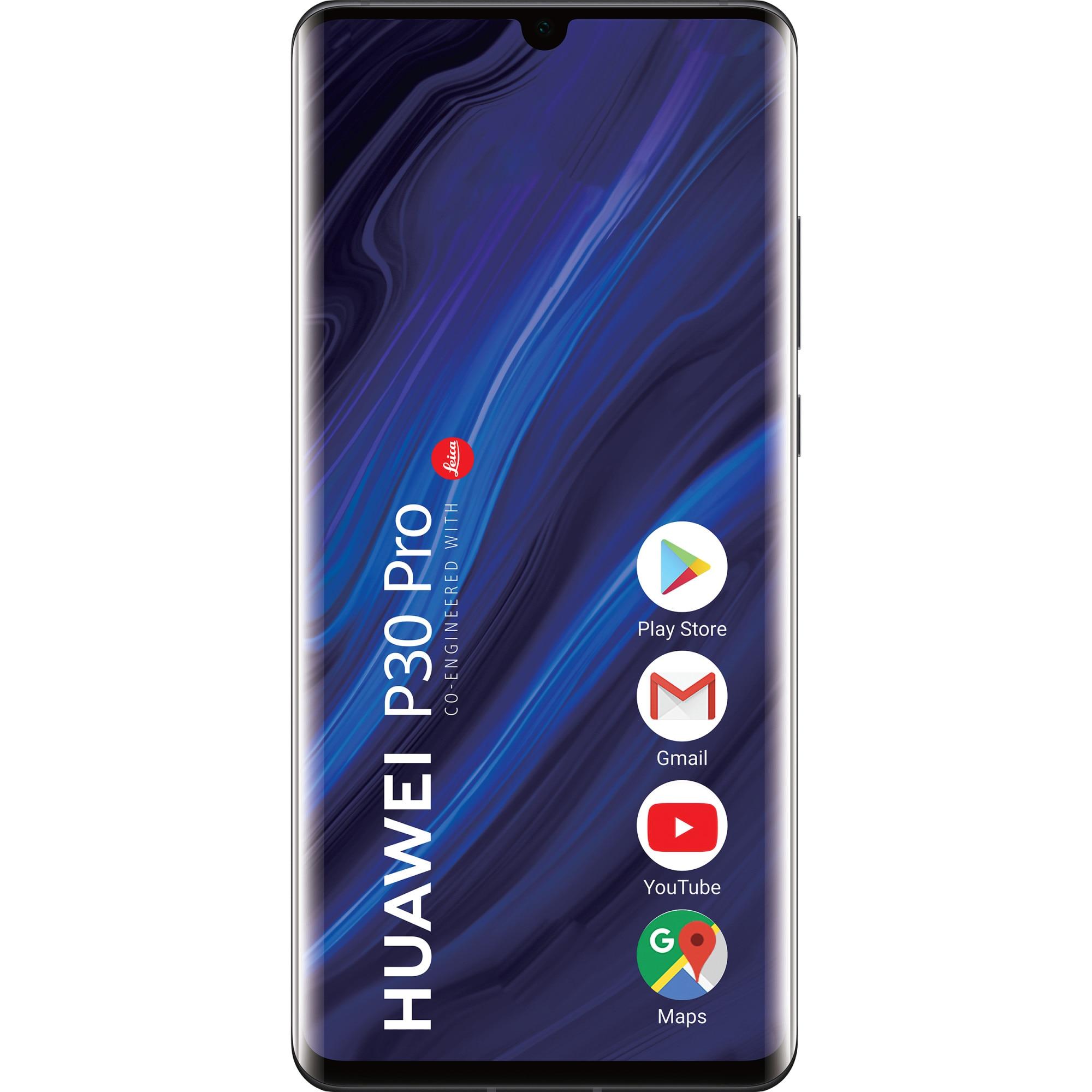 Fotografie Telefon mobil Huawei P30 Pro, Dual SIM, 128GB, 6GB RAM, 4G, Midnight Black