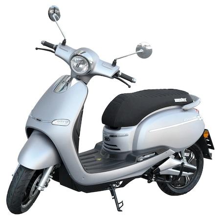 Scuter electric HECHT CITIS Silver, motor 3000 W, autonomie 60 km, viteza maxima 45 km / h, tahometru digital, gri metalizat