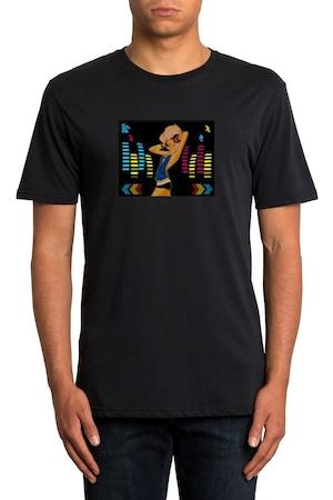ProCart® világító póló, Entertainer formájú, fekete, L méret
