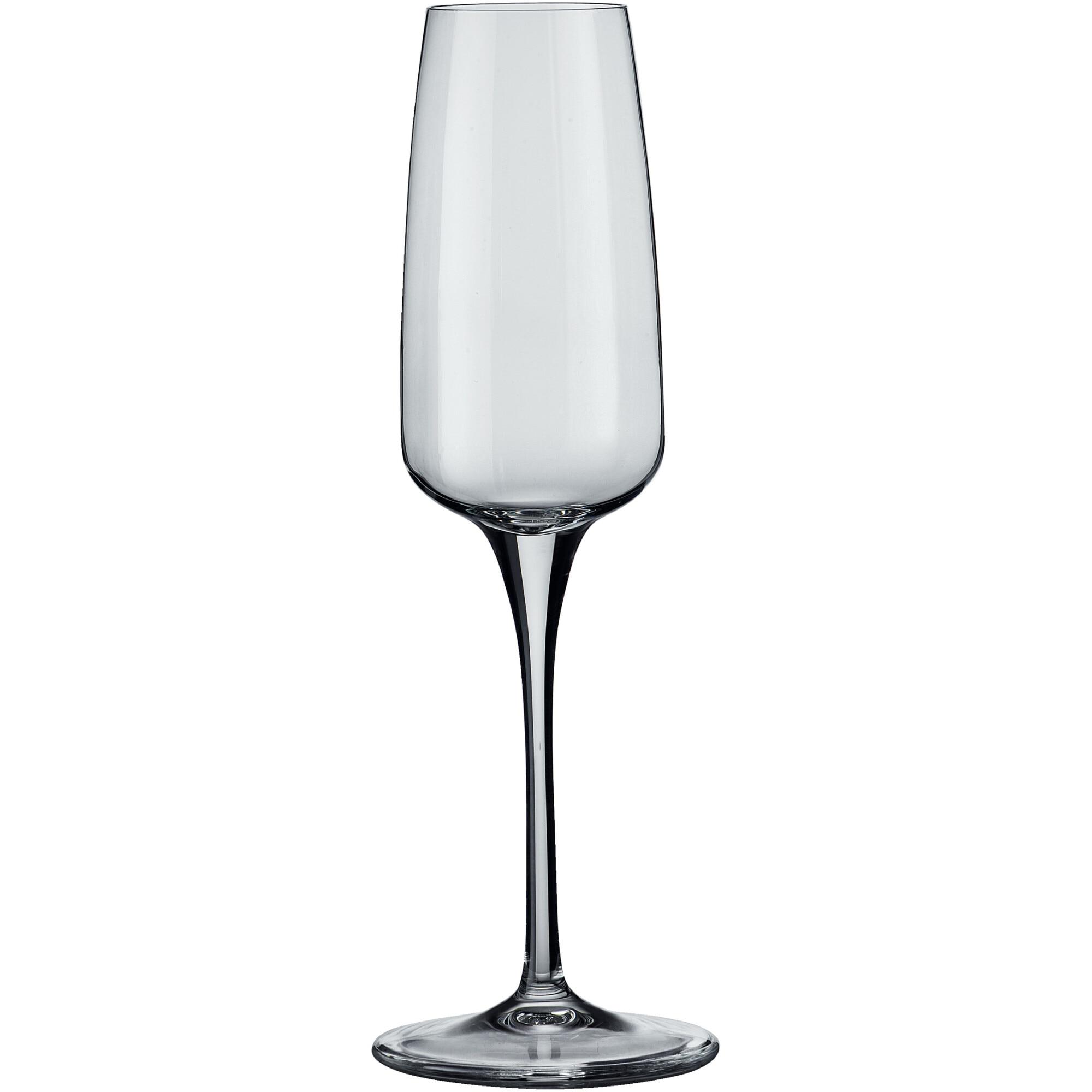 Fotografie Set 6 pahare cu picior Bormioli Aurum sampanie, 230 ml, sticla cristalina