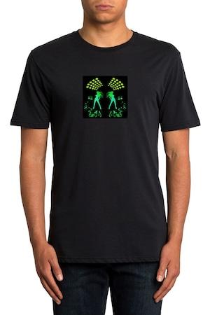 ProCart® világító póló, Klub dancers formájú, fekete, XXL méret