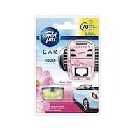 Odorizant auto, Ambi Pur Car, Blossom & Breeze, aparat + rezerva 70 zile 7 ml