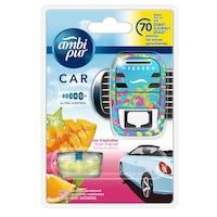 Odorizant auto, Ambi Pur Car, Ultra Control Tropical Fruits, aparat + rezerva odorizant auto 70 zile 7 ml