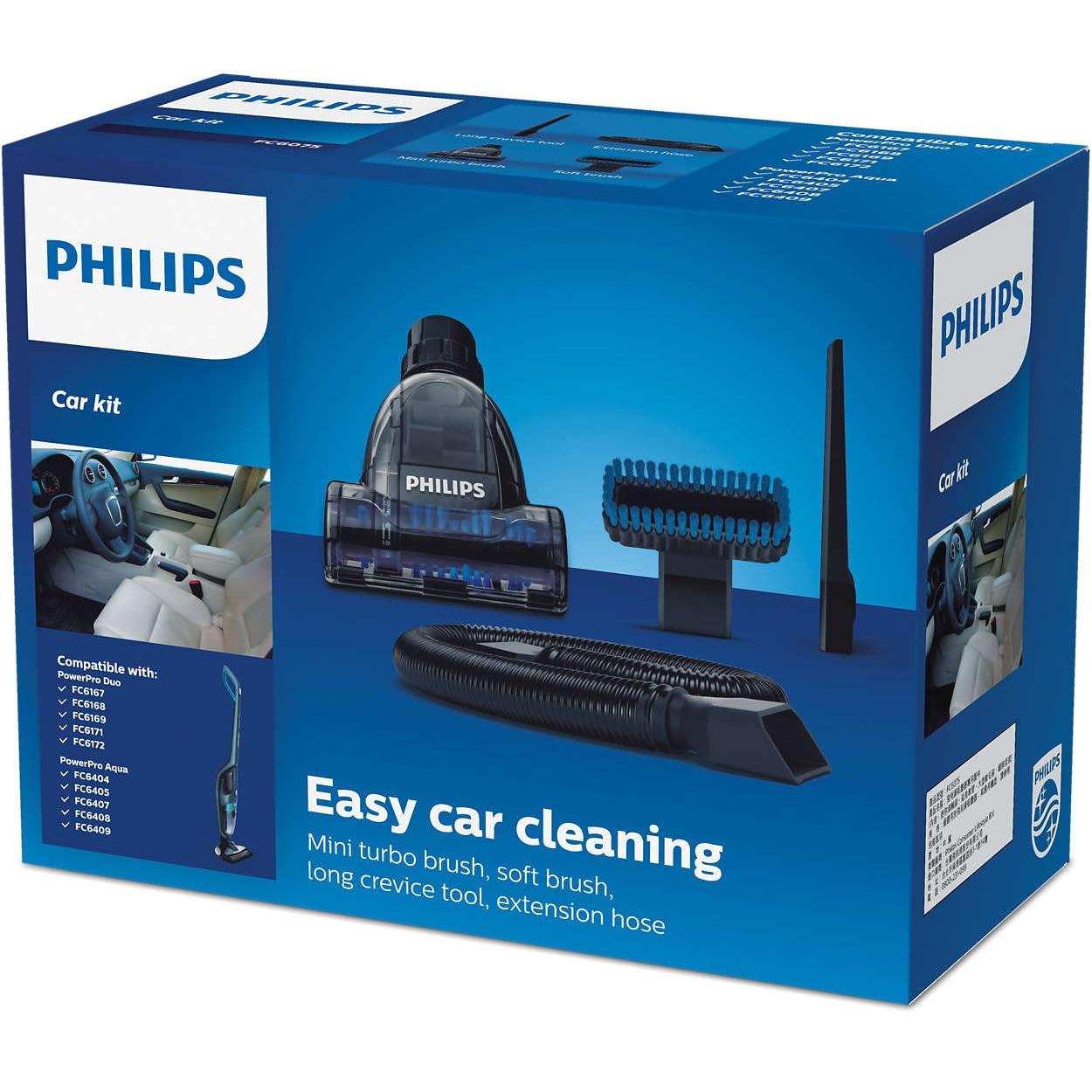 Fotografie Accesoriu Philips FC6075/01 pentru curatare automobil compatibil cu aspiratoarele verticale Philips PowerPro Aqua si PowerPro Duo